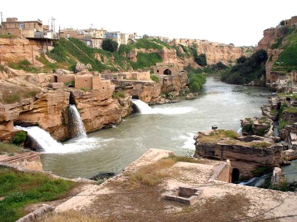 مجموعه آسیابها و آبشارهای شوشتر خوزستان