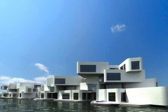 ساخت نخستین آپارتمان شناور جهان