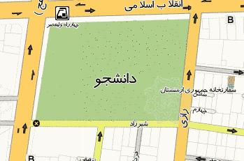 فایل اتوکد منطقه 11 تهران (پارک دانشجو)