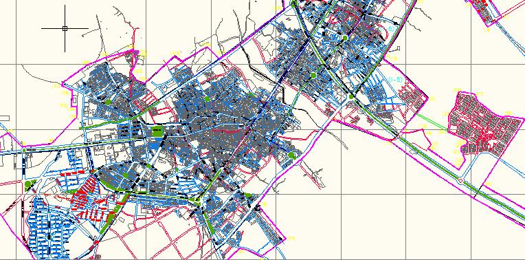 فایل اتوکد معابر و شهر ابهر(کامل)
