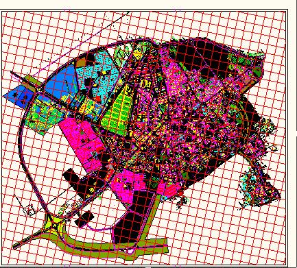 فایل اتوکد شهر دامغان (نقشه کاربری)