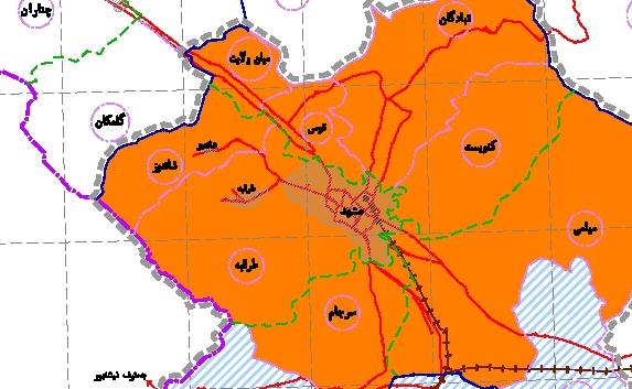 طرح توسعه و عمران (جامع) ناحیه مشهد(تعيين محدودة مجموعة شهري مشهد)
