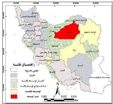 تحلیل فضایی برخورداری استان های ایران در شاخص های سلامت