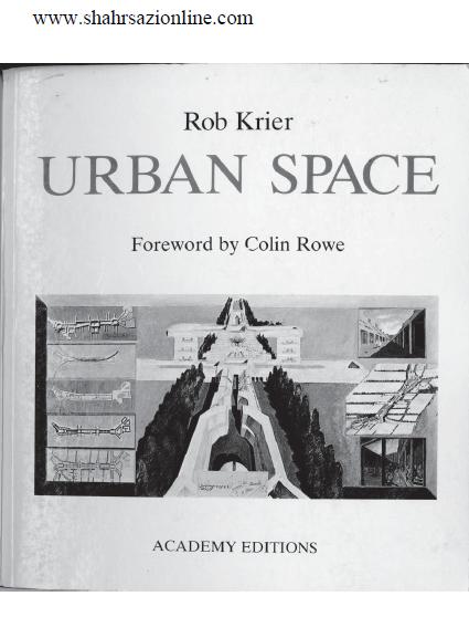 کتاب فضای شهری - راب کریر