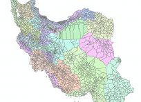 نقشه جی ای اس تقسیمات کشور سال 93