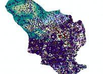 نقشه جی ای اس خمینی شهر