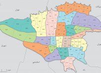 نقشه اتوکد توپوگرافی شهر تهران