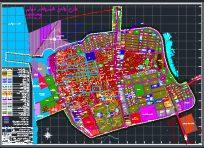نقشه اتوکد طرح جامع شهر بندر دیلم