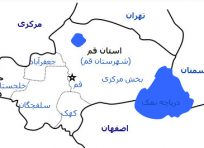 نقشه جی ای اس استان قم